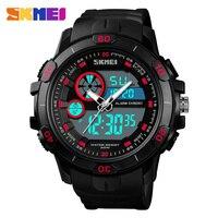 スポーツウォディスプレイアナログデジタル LED 電子クォーツ腕時計防水軍事リロイ hombre 2018 SKMEI -