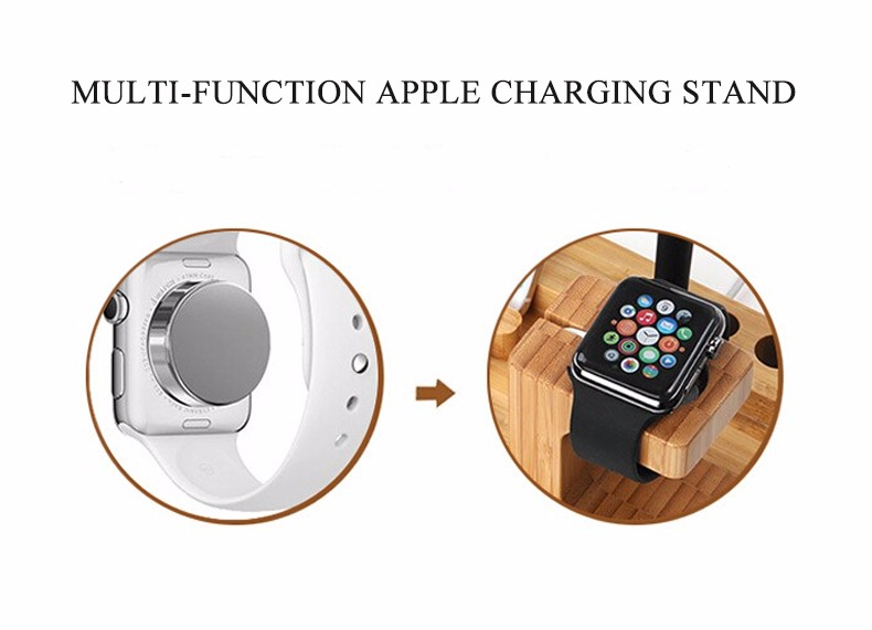 For iPhone Apple iWatch Wood Charge Holder (4)