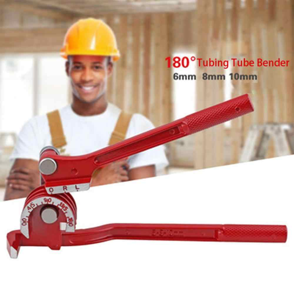 pipe bender 3 In 1 180 degree 6mm / 8mm / 10mm Pipe Tube Bender / Copper Tube / Air Conditioning Tube Manual Elbow Tool @12