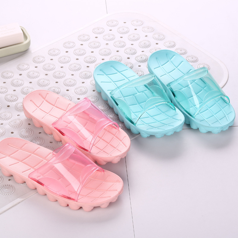 Whoholl New Summer Men/Women Sandals Indoor Stone Massage Slippers Flat Non Slip Slides Home Slippers Girls Bathroom Flip Flops coolsa women s summer indoor flat solid non slip massage slippers lightweight lady home slippers beach slippers women flip flops