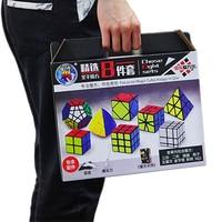 8PCS/set Magic Cubes 3 Layers 2*2 2x2 3x3 Skew SQ1 Megaminx Mastermorphix Triangle Mirror Cube 3*3 Cubos