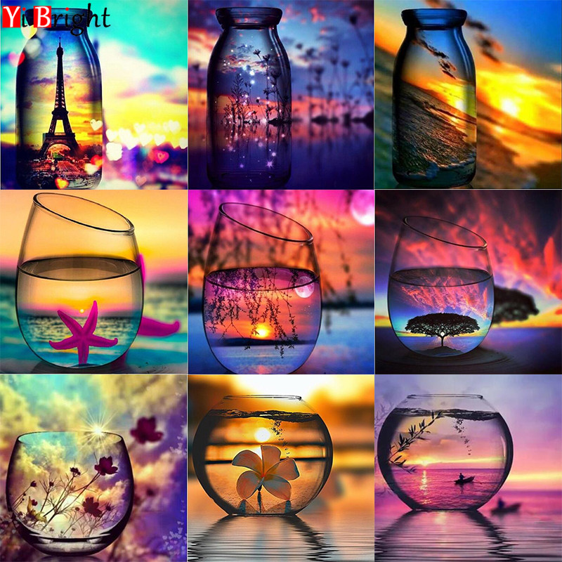 3D diamond painting glow 5D Rhinestone Landscape water bottle DIY Diamond Embroidery Full Portrait diamon painting Mosaic LWR3D diamond painting glow 5D Rhinestone Landscape water bottle DIY Diamond Embroidery Full Portrait diamon painting Mosaic LWR