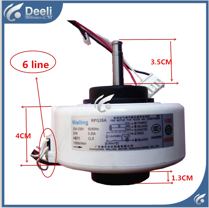 100% new good working for Air conditioner Fan motor machine motor RPG26A good working ups ems dhl 95% new good working for air conditioner inner machine motor fan ydk50 8g 3 7 line