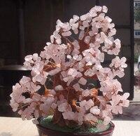 NATURAL ROSE quartz gemstone TREE REIKI Healing