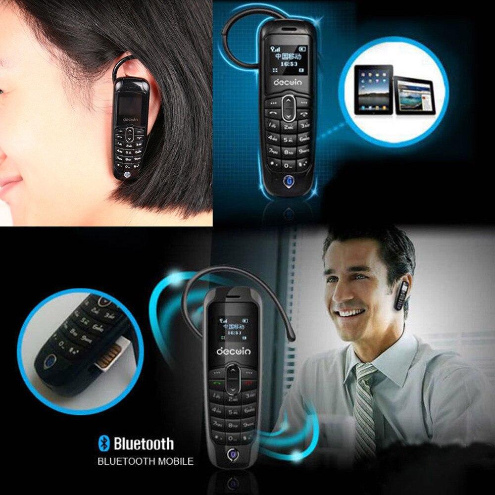 FGHGF Brand Bluetooth Earphones Black Mini Thumb Small GSM Mobile Phone Bluetooth Dialer Headset Cellphone for micro SIM card