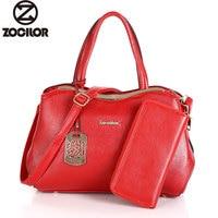 Women Bag Two Set Luxury Leather Purse and Handbags High Quality Famous Brands Designer Handbag Female Shoulder Bags sac a main