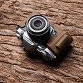 O sr. stone couro genuíno metade saco de caixa da câmera de vídeo para olympus em5 II Mark 2 EM5 Câmera Retro Do Vintage Fundo II Caso EM5