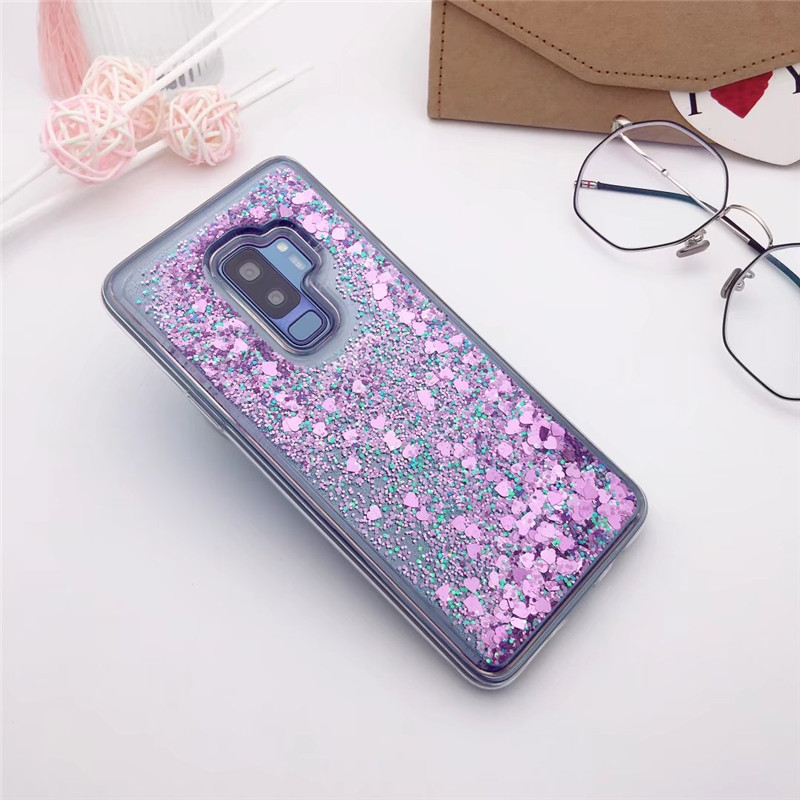 For Samsung Galaxy S9 S10 Plus Bling Quicksand Glitter TPU Case For S5 S6 S7 Edge S8 A6 A7 A8 A9 J4 J6 2018 Note 4 5 8 9 Cover
