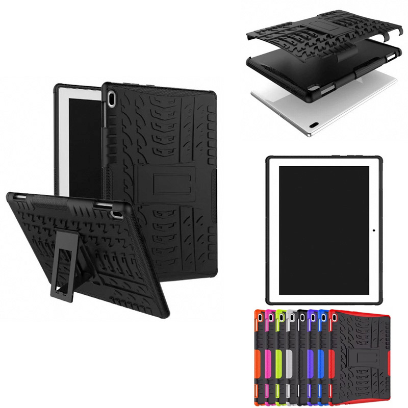 HH Heavy Duty Armor Tire Style TPU PC Hard Cover Case for Lenovo TAB4 Tab 4 10 TB-X304L TB-X304F TB-X304N 10.1 tablet PC hh xw dazzle impact hybrid armor kickstand hard tpu pc back case for samsung galaxy tab a 8 0 inch p350 p355c t350 t355 sm t355