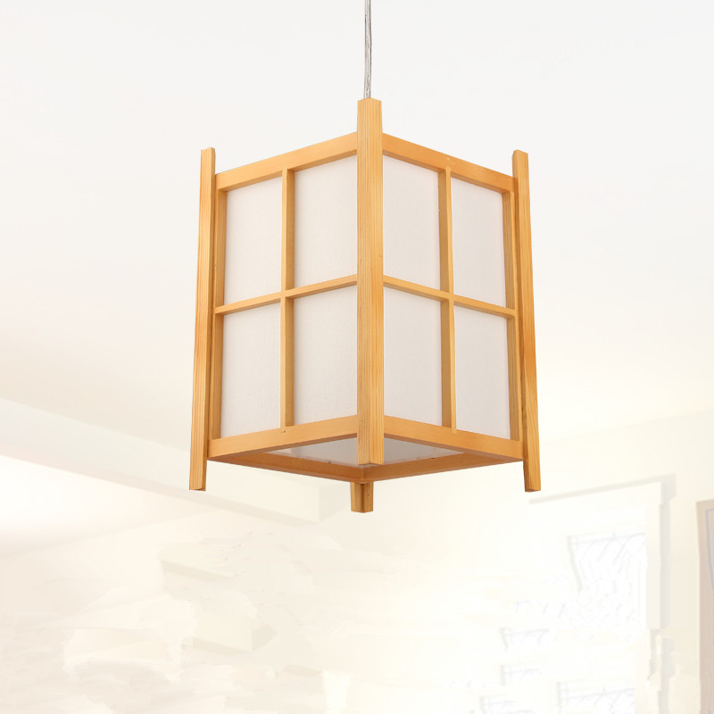 Modern Japanese Pendant Lamp Washitsu Tatami Decor Wooden Lamp For Restaurant Living Room Hallway Japan Lighting and lantern japanese ceiling lights mahogany finish shoji lamp wood paper washitsu tatami decor living room indoor lantern lamp lighting