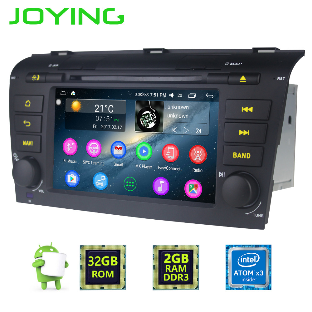 JOYING 2GB RAM 2Din Android 6 0 Car radio stereo for Mazda 3 GPS Navigation head