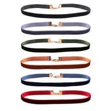 Nova moda 6 unidades/pacote colorido tira de veludo gargantilha colar colar colar gótico retro para mulheres meninas punk jóias