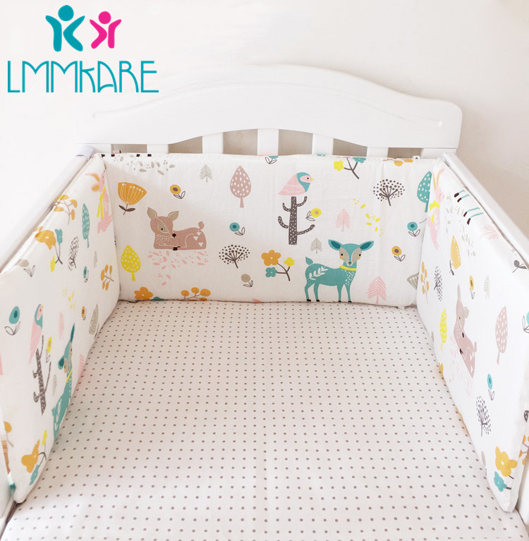 2020 New Cartoon Cotton Baby Bed Bumpers Star Printed Cot Newborn Crib Bumper Sets Infant in Crib Protector for Girls boys 1pcs(China)