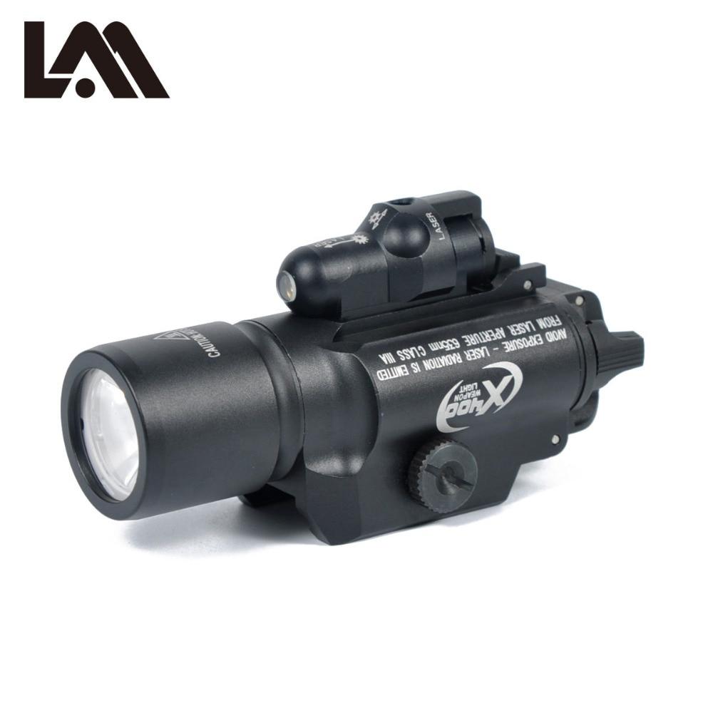 LAMBUL Surefir X400 Scout Light Combo Laser pistolet lampe de poche LED fusil fusil Laser lumière pour Picatinny Weaver Rails Mount