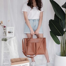 Fashion Classic Big Trunk Tote Vintage Ladies Crossbody Bags Pu Leather Bag Simple Handbags Famous Brands Women Shoulder Bag