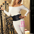 Sexy Lady Black Underbust Corset Waist Trainer Cincher Tummy Slim Bodysuits Lingerie Intimate Shapewear Girdle Corsets Bustiers