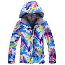 Синий снег Куртки женские лыжные костюмы сноуборд одежда ветрозащитный  тепловой Куртки зимние теплые костюмы красочные Россия a23d2a169e2