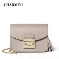 CHARMIYI 2018 Summer Mini Candy Bag Women Messenger Bags Cowhide Leather Brand Handbags Ladies Chain Shoulder