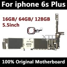 Оригинальная разблокированная материнская плата для iphone 6 s Plus с сенсорным ID, для мобильного телефона iphone 6SP материнская плата с чипами, 16 ГБ/64 Гб/128 ГБ