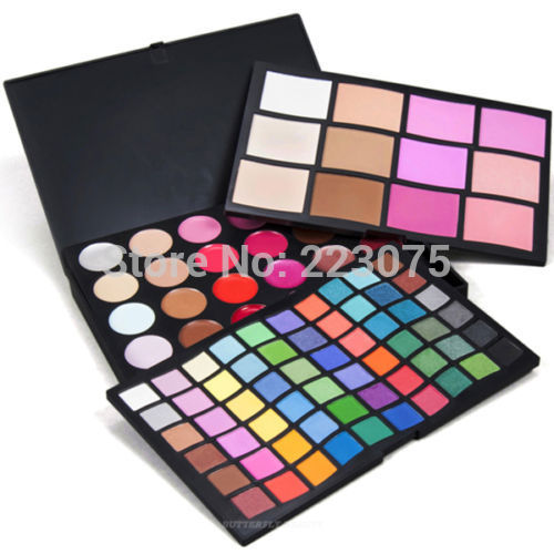 96 Colors Makeup Eyeshadow Concealer Lip Gloss Blusher Palette Cosmetic Set as Xmas gift pro 6 color lip gloss palette lip makeup maquiagem make up sexy lip gloss palette waterproof lip gloss makeup