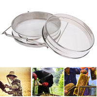 Stainless Steel Bilayer Honey Filters Strainer Network Stainless Steel Screen Mesh Filter Beekeeping Tools Honey Tools 24cm