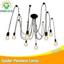 Modern Nordic Spider Pendant lights led bulb Multiple Adjustable Retro Pendant lamp Loft Classic Decorative Fixture Lighting