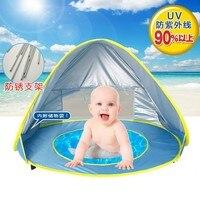Bé bãi biển lều uv-bảo vệ sunshelter với một hồ bơi không thấm nước pop up mái hiên lều kid ngoài trời cắm trại dù để che nắng bãi biển dropship