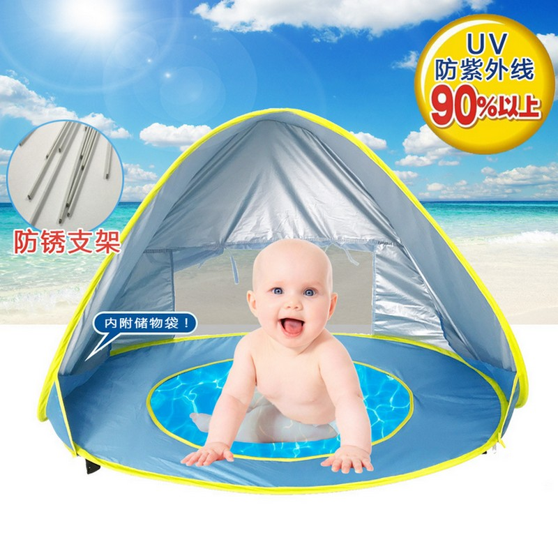 Baby beach tenda uv-protezione sunshelter con una piscina impermeabile pop up tenda tenda del capretto spiaggia di campeggio esterna parasole dropship