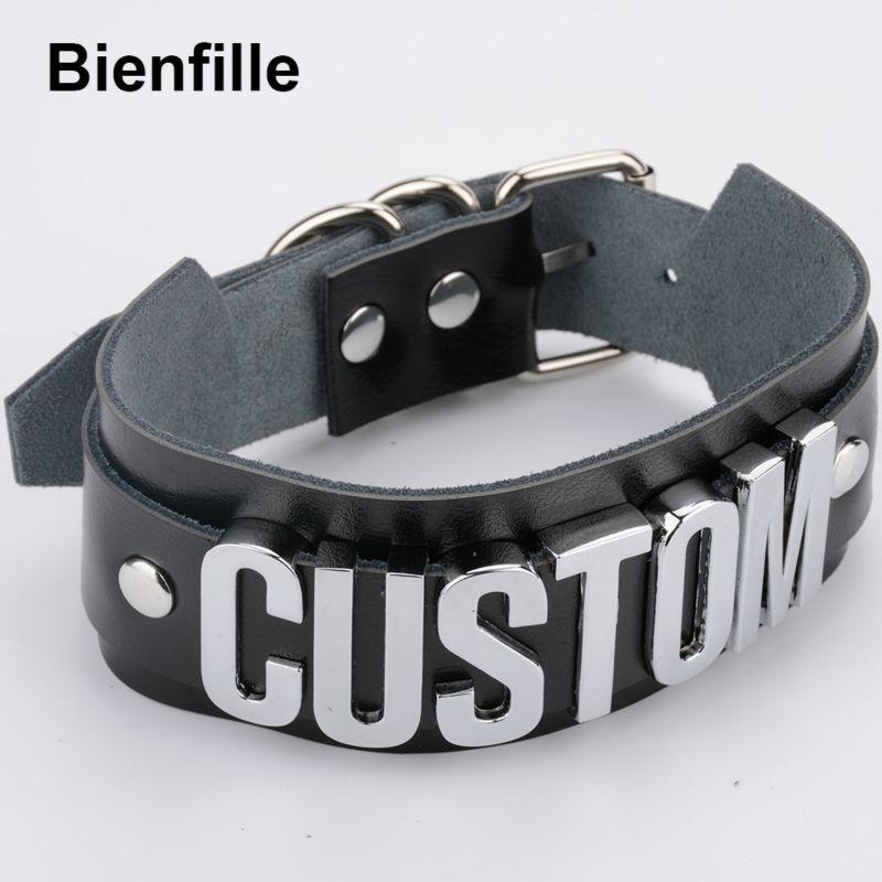 Prilagođeno personalizirano ime choker ogrlica pretjerana široka - Modni nakit - Foto 4