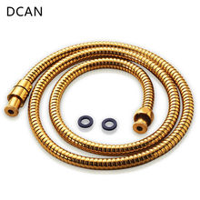 DCAN Plumbing Hoses Bathroom Replacement Anti-Torsion Shower Hose Double Locked Flexible Stainless Steel 1.5m High Quality Gold