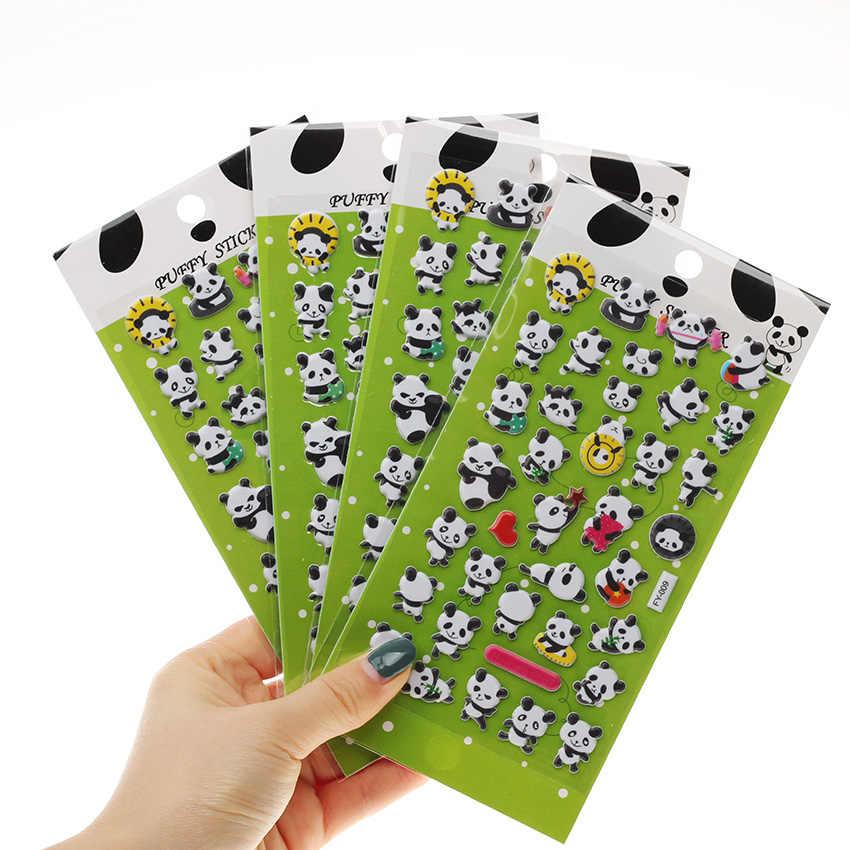 1PC lindo Panda 3D burbuja pegatina decoración pegatina DIY diario álbum Scrapbooking Kawaii papelería