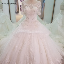CHANVENUEL LS18320 short sleeves wedding dresses ball gown