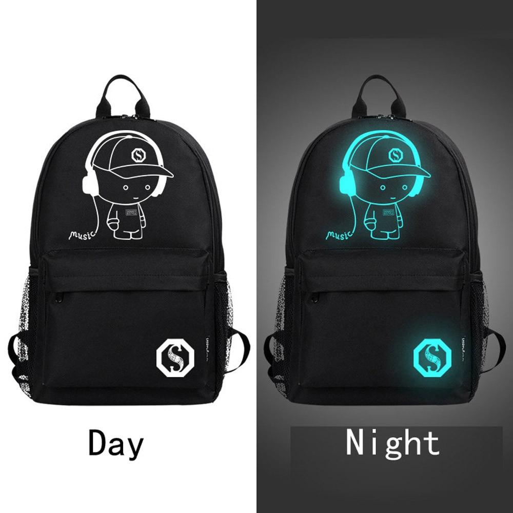Bags for school on sale - 2017 Hot Sale Backpack Unisex Light Preppy Teenagers Noctilucent Cartoon School Bags Student Backpack Rucksack Mochila
