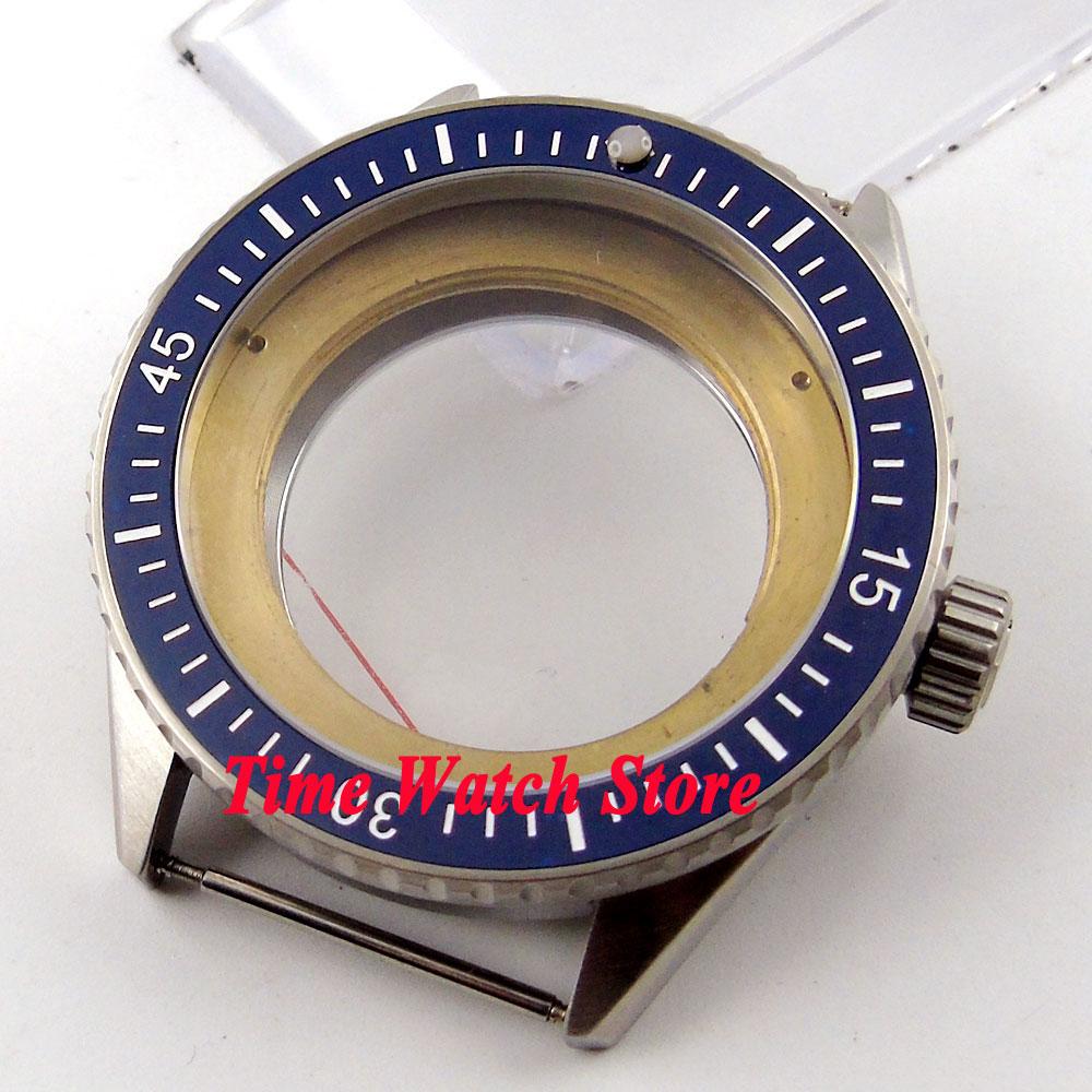 Debert Fit 2824 2836 movement 43mm blue ceramic bezel sapphire glass 5ATM watch case C82 цена и фото