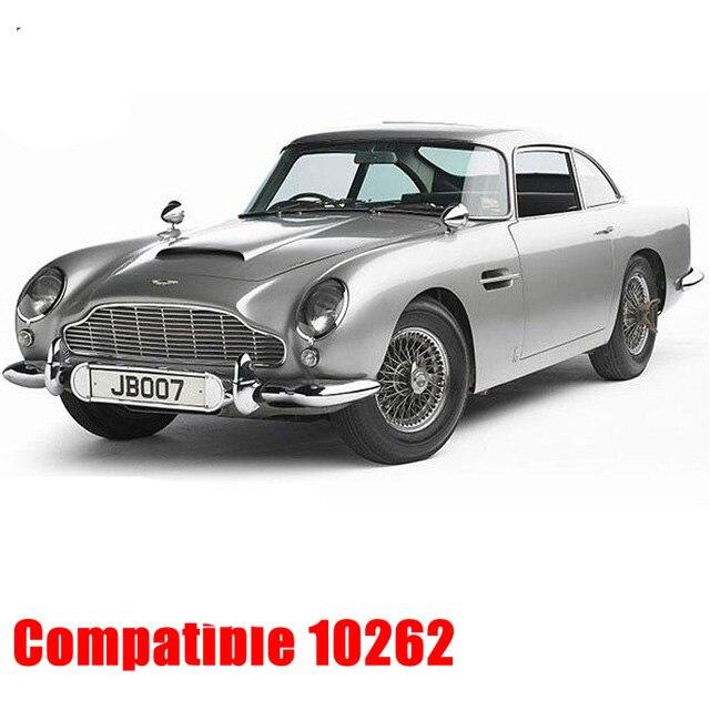 Cerator 007 James Bond Aston Martin DB5 Ensembles Compatible Legoing 10262 Modèle Kits de Construction Blocs Briques Éducatifs Enfant Jouet Cadeau