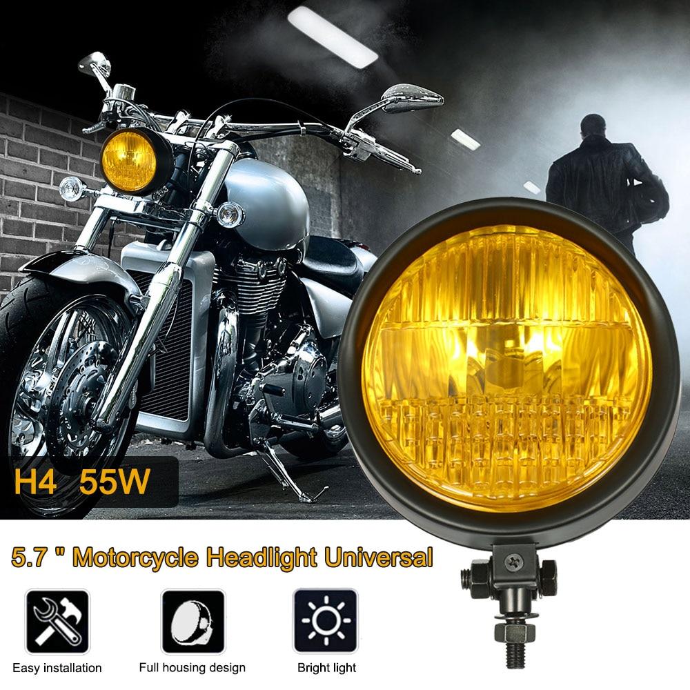 "5.7 "" Motorcycle Flexible Headlight Chrome Front headlamp LED ... for Motorcycle Headlight Design  75sfw"