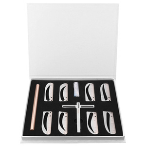 Image 3 - Règle ajustable pour les sourcils, 1 ensemble, mesure pour les yeux, en forme dextension, pochoir, Machine pour tatouage, modèle pratiques