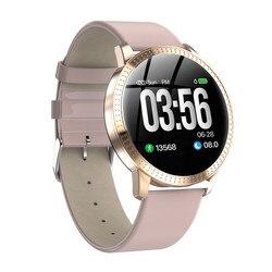 Astuto della vigilanza VS V11 Q8 P68 impermeabile vetro Temperato Attività inseguitore di Fitness Heart rate monitor TESA donne Degli Uomini smartwatch CF18