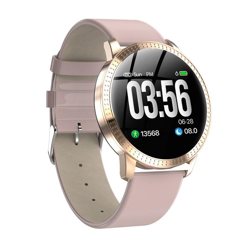 Relógio inteligente vs v11 q8 p68 atividade de vidro temperado à prova dwaterproof água rastreador de fitness monitor de freqüência cardíaca borda das mulheres dos homens smartwatch cf18