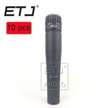 ETJ Brand 10pcs Wholesale High Quauality SM57LC Vocal Karaoke Microfone Dynamic Wired Handheld Microphone SM57LC