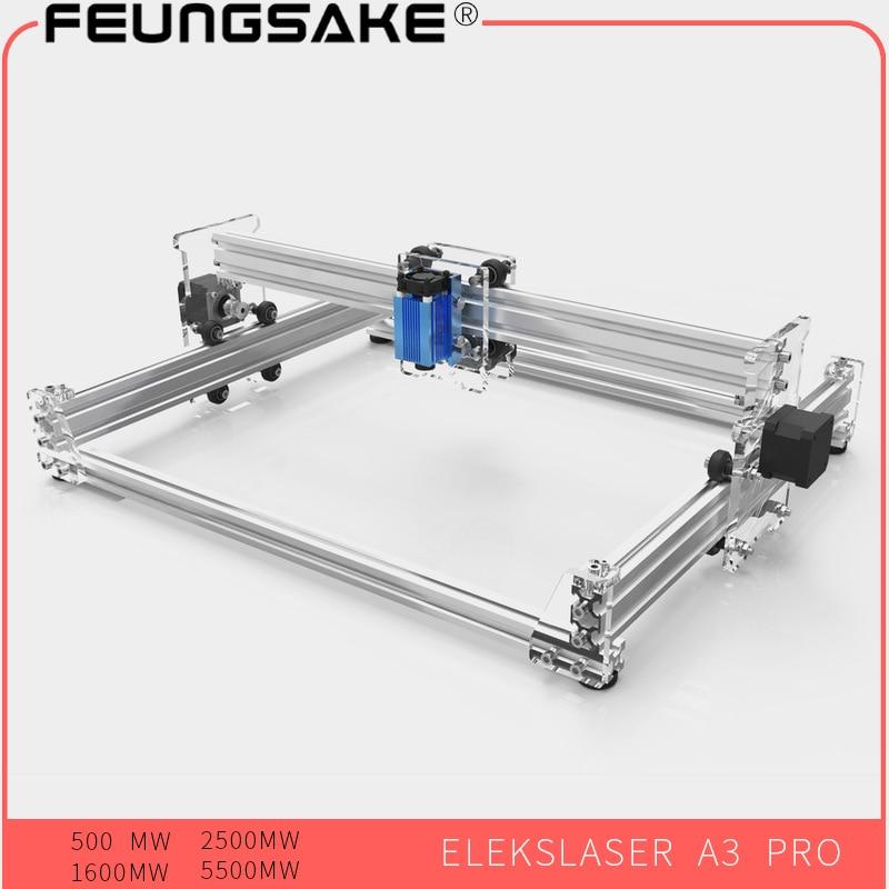 Laser Machine 5500mw Laser Engraver,1600mw 2500mw DIY Mini Laser Engraving Machine 500mw, 38*30cm Engraving Area,EleksMaker A3