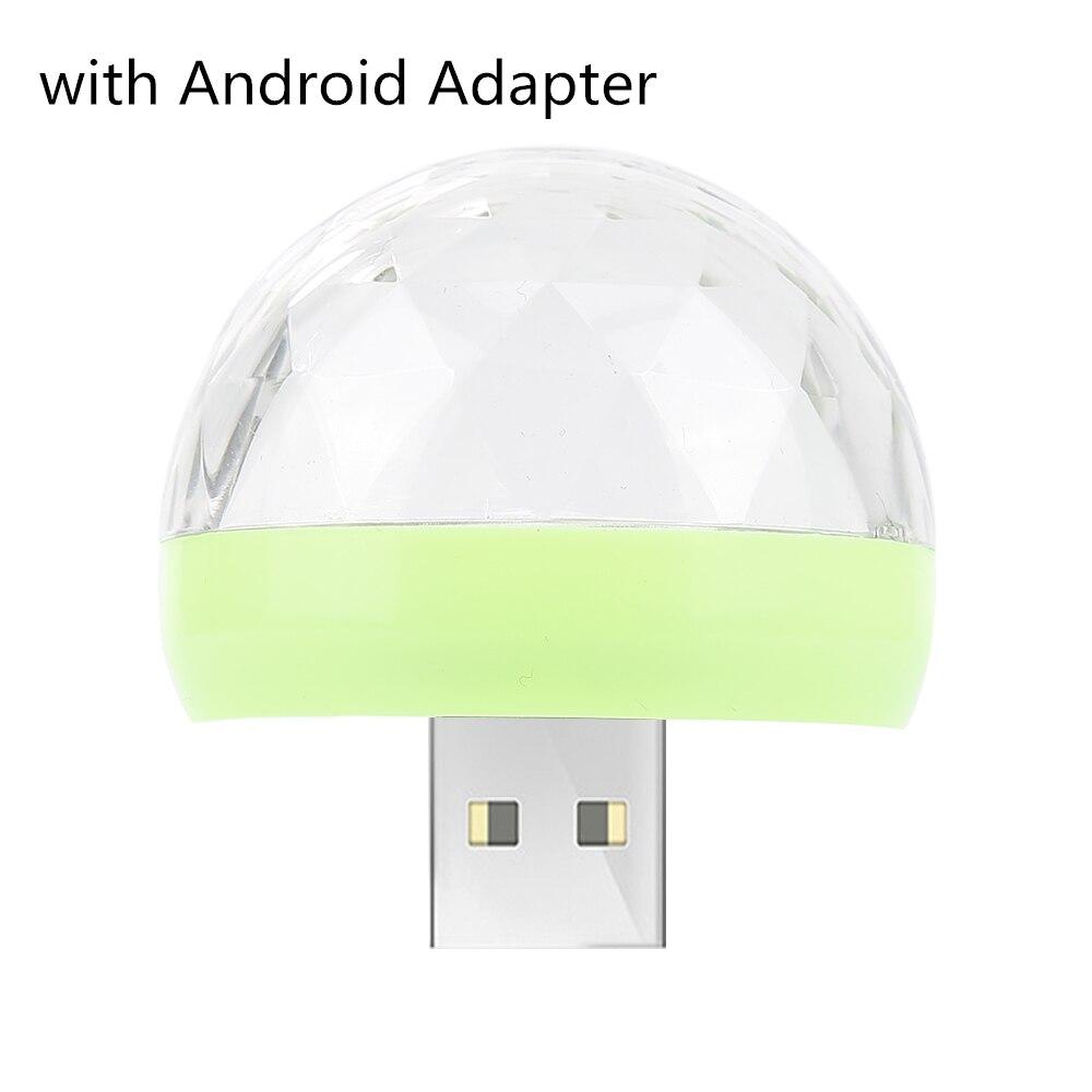 Мини USB светодиодный светильник для дискотеки, портативный светильник для рождественской вечеринки, магический шар, сценический светильник для диско-клуба, яркий эффект, сценическая лампа для мобильного телефона - Цвет: green ball A