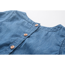 Girls Denim Dress Children Clothing Casual Style Girls Clothes Butterfly Embroidery Dress Kids Clothes 2017 Spring