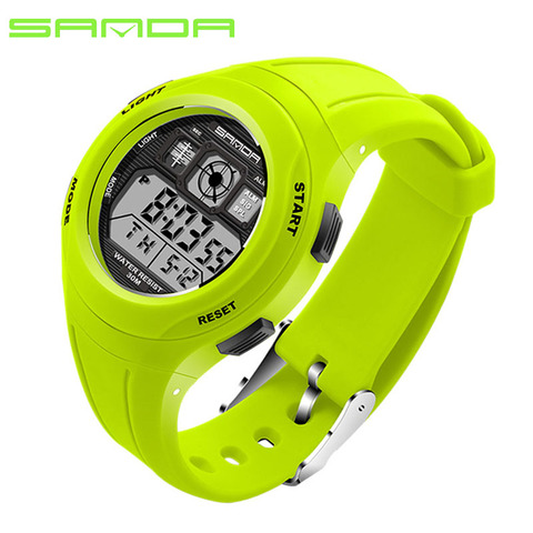 SANDA Brand Children Watches LED Digital Multifunctional Waterproof Wristwatches Outdoor Sports Watches for Kids Boy Girls #331 Lahore