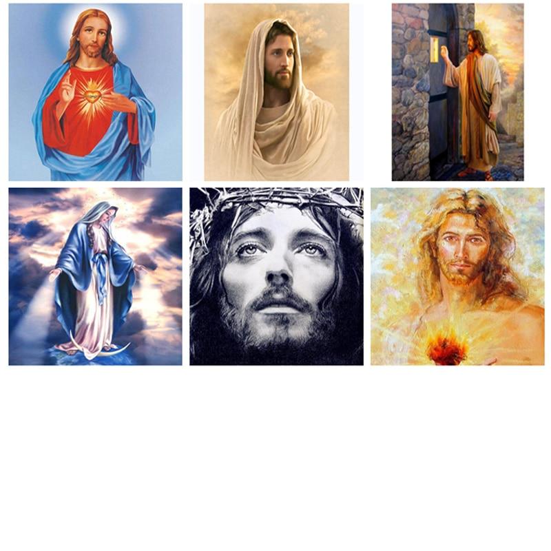 gyémántfestés 5d, jézus, vallás, teljes gyémánt hímzés, festés strasszok, gyémántfestés jézus