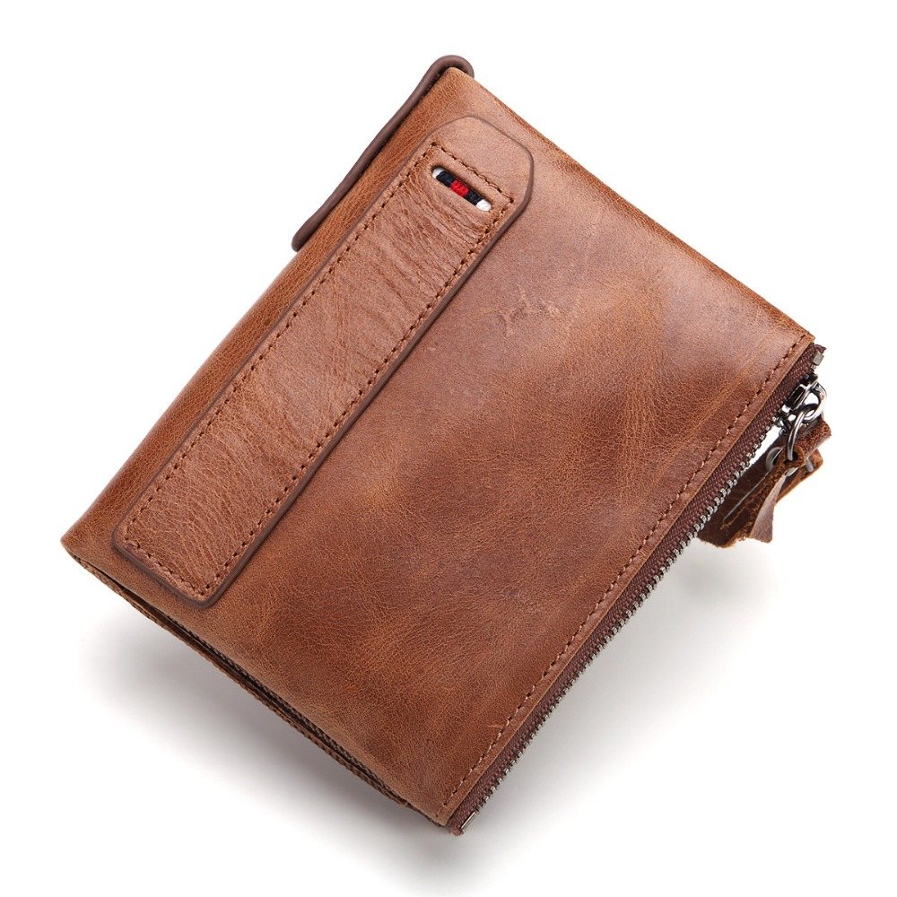 Nesitu Vertical Vintage Brown Real Skin Genuine Leather Men Wallets Cowhide Women Purse Credit Card Holder #M2196 simline fashion genuine leather real cowhide women lady short slim wallet wallets purse card holder zipper coin pocket ladies