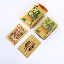 AU Dollar Playing Cards Waterproof Card Custom Plastic Poker Cards Collection Durable Creative Gift Card Plastic poker Game Card 1000pcs custom vip card printing membership loyalty cards member magnetic strip plastic card 1 pcs 2nd track reader