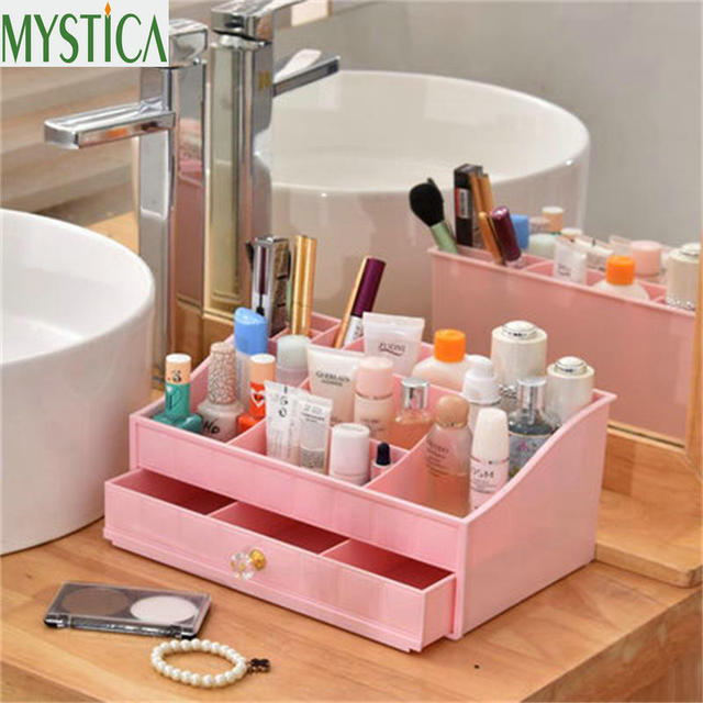 NEW MYSTICA ABS Layers Plastic Makeup Drawers Storage Box Jewelry Container  Toiletries Organizer Box Case Cosmetic