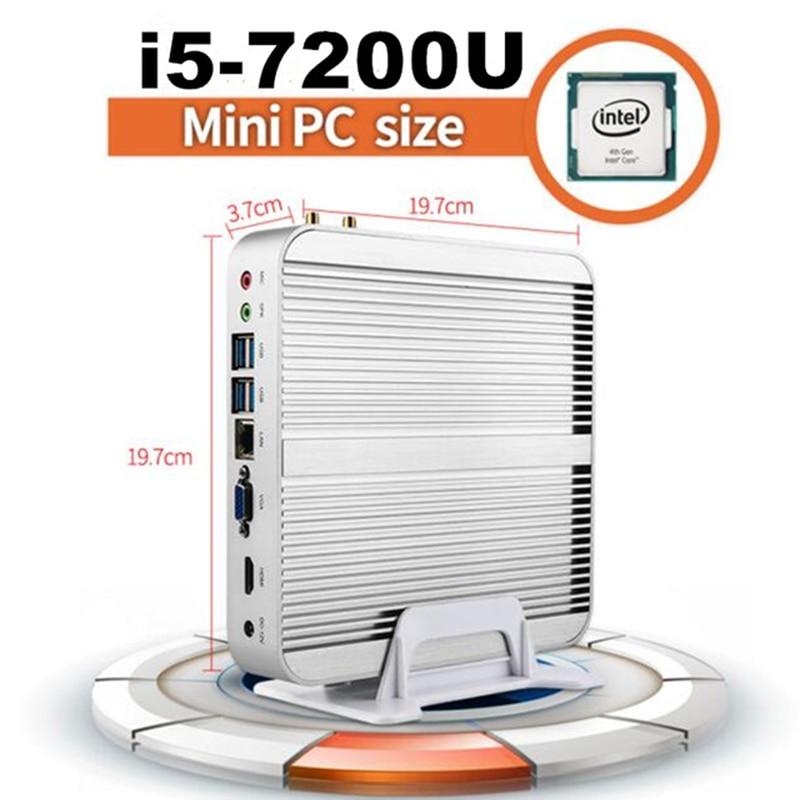 In Stock Promotion! KabyLake I3 I5 Mini PC Core I5 7200U I3 7100U Mini Desktop PC 4K HTPC Intel HD Graphics 620 Nettop HDMI+VGA