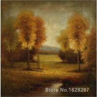 Trees oil paintings of Pierre Auguste Renoir Light and Gold Stream Hand painted High quality